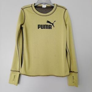 💙$5 Add-on💙 PUMA Long Slv Kids Athletic Lime 6X